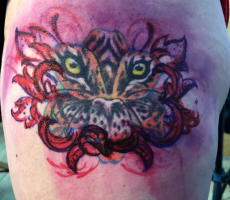 tiger lilly coverup tattoo