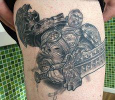 black and grey realism tattoo Geneva NY